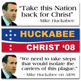 Mike Huckabee - The Huckster Bumper Stickers and Election Gear
