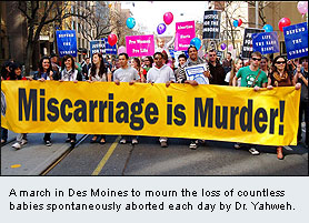 MARCH IS NATIONAL MISCARRIAGE MONTH - THE MISCARRIAGE MARCH IN DES MOINES