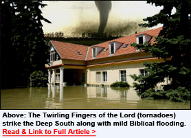 Tornadoes are the Twirling Fingers of Christ - Read this important sermon from Brother Harry Hardwick