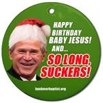 Click for President Bush's Last White House Christmas Ornament