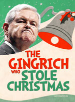 Newt Gingrich Christmas Cards - The Gingrich Who Stole Christmas