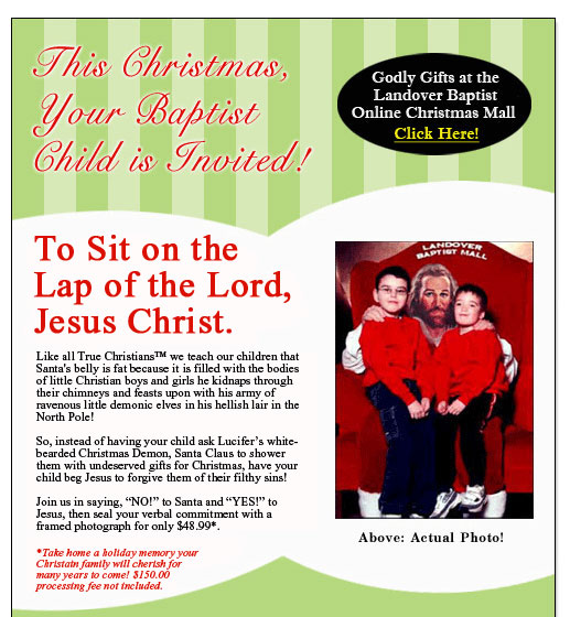 This Christmas Your Baptist Child is Invited