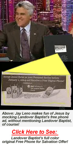 Jay Leno Uses Landover Baptist's Free Digital Phone Offer on the Tonight Show