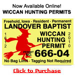 Witch and Wiccan Hunting Permits