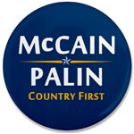 John McCain and Sarah Palin - Country First!  Praise Jesus Christ