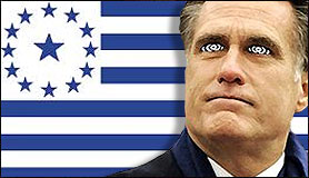 Mitt Romney With Mormon Flag