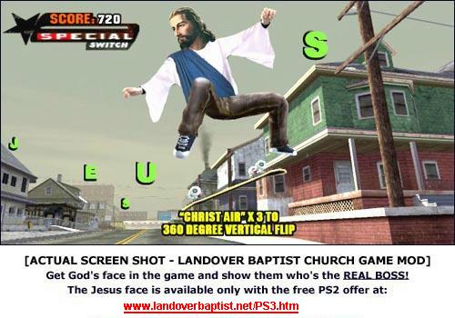 Tony Hawk Jesus Mod for PS3 Skating